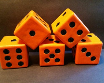 Lawn Dice / Yard Dice / Camping Dice / Lawn Games / Yard Games / Giant Dice