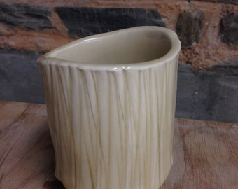 Handmade Tan Textured Ceramic Mug