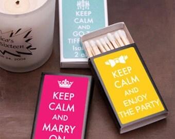 50 pcs Keep Calm  Personalized Matchboxes (MIC-FJM230265)