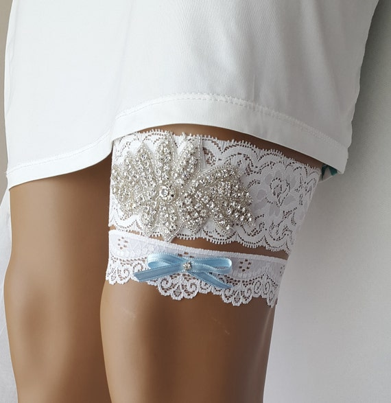 Ivory Garters Wedding: Garters Ivory Lace Wedding Garters Bridal