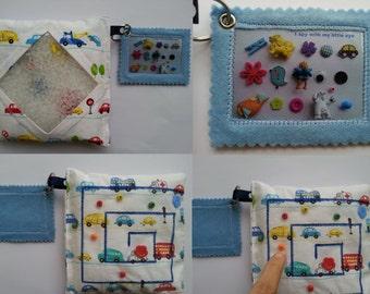 I Spy Bag, Eye Spy Bag, Busy Bag, Sensory Toy with labyrinth on the back side