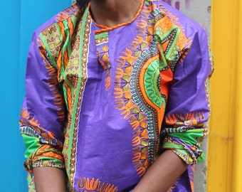African Top - Hamed Top - Dashiki Shirt - African Tshirt  - Dashiki Top - Festival Shirt - Wax Shirt - African Shirt - Festival Clothing