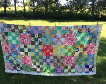 Vintage Quilt with Satin Edging