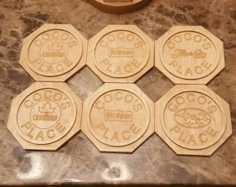 CNC Personalized coasters.