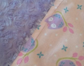 Owl Print Minky Blanket