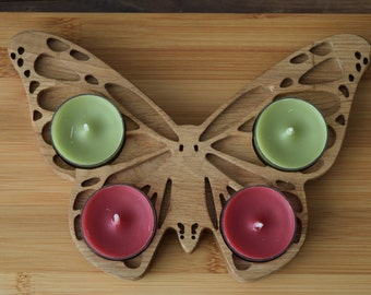 Oak Butterfly Decorative Tealight Holder.