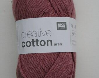 Rico Creative Cotton Aran Smokey Berry 012