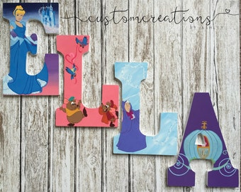 Cinderella hand painted letters