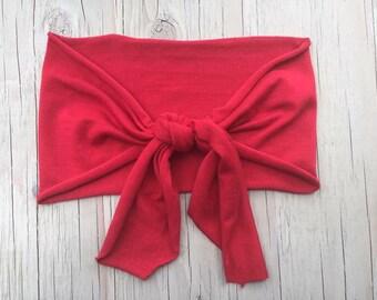 Red Knot Headband,Turban Knot Hearband,Busy Moms,Fall Fashion,No Headache Headbands