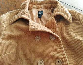 Retro Gap Corduroy Jacket/ Pea Coat, Large