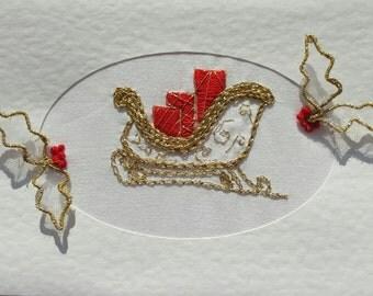 Christmas Sleigh Stumpwork & Embroidery Kit