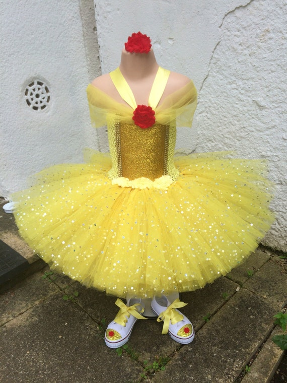 Souvent Princess Belle tutu & shoes Beauty and the beast tutu 4 SZ81