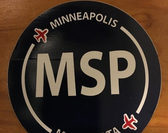 Minneapolis airport sticker