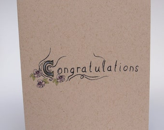 Greeting Card- Congratulations