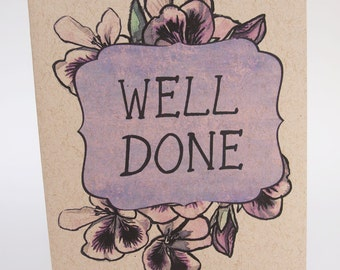 Greeting Card- Well Done