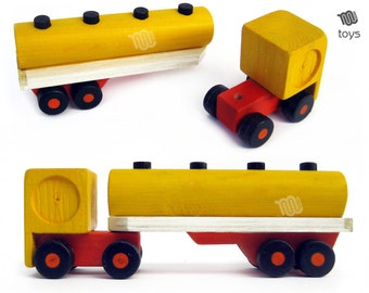 Shell Tractor Trailer - wood toy