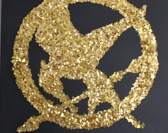 Hunger Games Mockingjay Glitter Canvas
