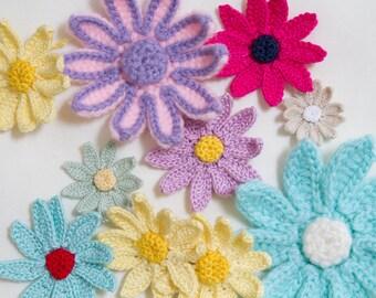 Crochet pattern - Daisy flower - instant download
