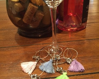 The Pastel Witch Broom Wine Glass Charms