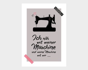 Poster / sewing machine