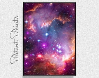 Small Magellanic Cloud Poster, Space Art Print, Space Wall Art, Astronomy Poster, Universe Art, Universe Print, Kids Room Wall Decor
