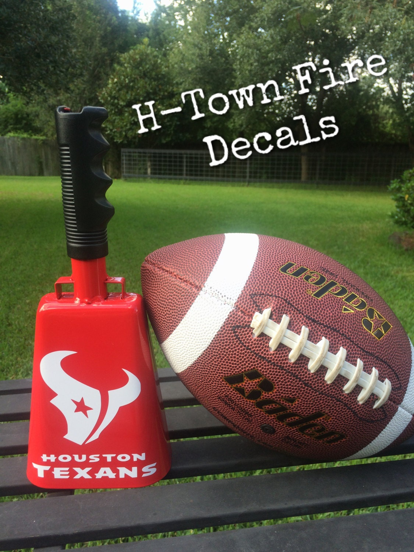 Houston Texans Custom Cowbell W Bottle Opener