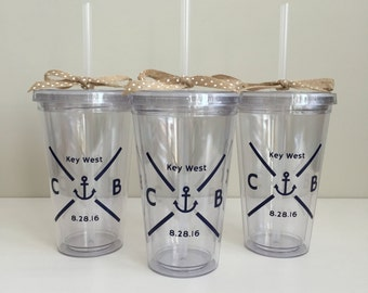 Custom Tumbler Cups with Design - Wedding Party Gifts - Bridesmaid Gifts - Bridal Party - Bridal Shower Gifts