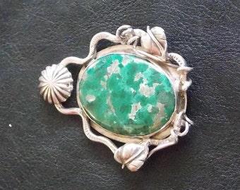 arizona malachite in sterling silver