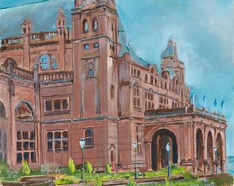 Glasgow city scape Kelvingrove Art Gallery giclee print