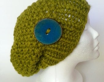 Cozy Time Olive Hat