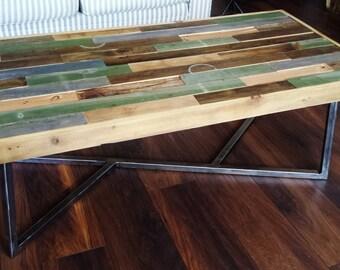 Recycled barnwood table