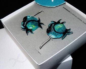 Cancer Earrings / Cancer Star Sign Earrings / Zodiac Jewellery / Horoscope Jewellery / Crab Earrings / Beach Jewelry / Zodiac Jewelry