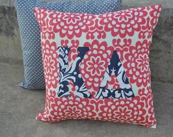 Kappa Delta Greek Lettered Custom Fabric Pillow