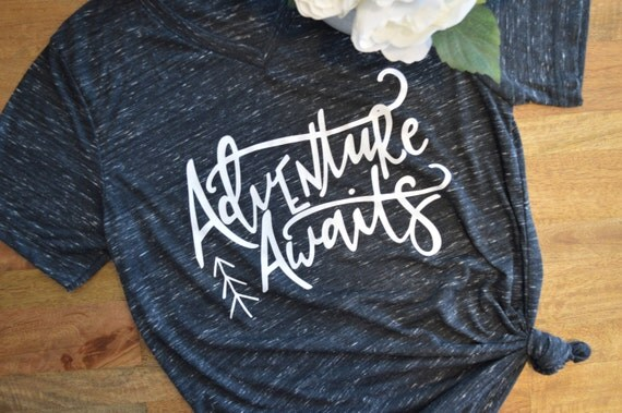 Adventure Awaits dark grey shirt