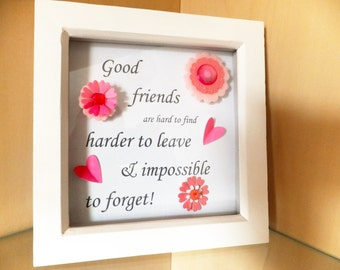 "Good Friends Box Frame 7"" x 7"""