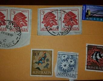Vintage Used Australia Postage Stamp