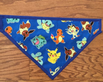 Blue Pokemon Characters Dog Scarf