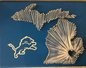Detroit Lions String Art