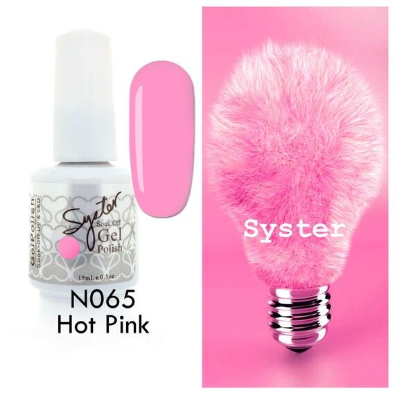 Hot Pink Gel Polish: SYSTER 15ml Nail Art Soak Off Color UV Lamp Gel Polish
