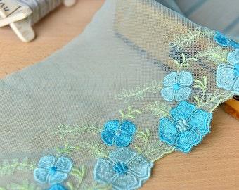 Teal Blue Lace Edging 3 meters