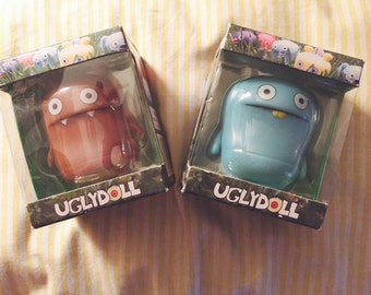 Set of 2 Vinyl Uglydolls Nandy Bear and Babo's Bird