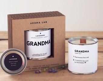 Scented Candle GRANDMA - Grandma Gift, Grandmother Gift, Gift For Grandma, Gift For Grandmother, Present For Grandma, Grandma Birthday