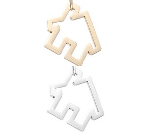 House pendant (silver or gold tone) [5 pieces]