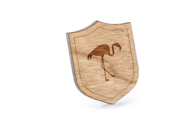 Flamingo Lapel Pin, Wooden Pin, Wooden Lapel, Gift For Him or Her, Wedding Gifts, Groomsman Gifts, and Personalized