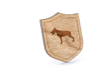 Doberman Lapel Pin, Wooden Pin, Wooden Lapel, Gift For Him or Her, Wedding Gifts, Groomsman Gifts, and Personalized