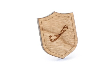 Bermuda Lapel Pin, Wooden Pin, Wooden Lapel, Gift For Him or Her, Wedding Gifts, Groomsman Gifts, and Personalized