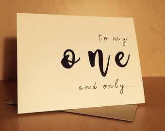 Cute Relationship Love Card - To My One and Only...