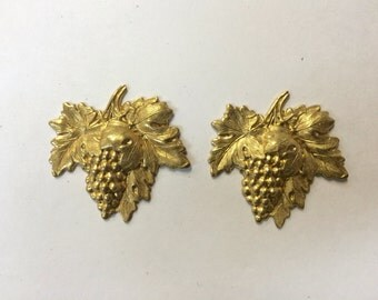Brass Stamping - Brass Grape Cluster - Set of 2