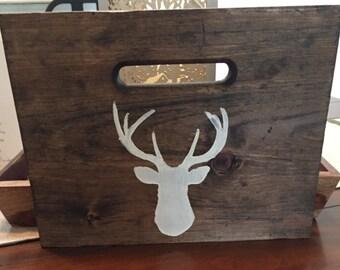 Deer Wood Sign - Deer Head Silhouette Wood Sign - Rustic Home Decor - Deer Art - Wood Signs