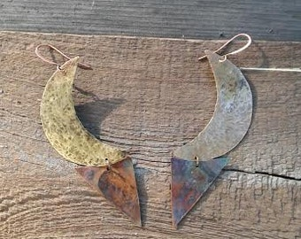 The Brass Moon Earrings